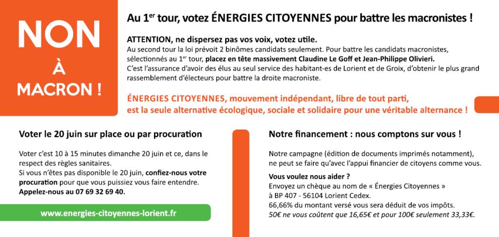 Non à Macron - ECL Lorient Sud (2)